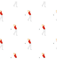 golf player in a red shirt pattern seamless vector image