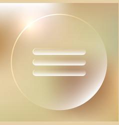 menu glassy icon menu glassy icon vector image