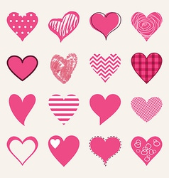 St Valentines day flat design icon set Love vector image
