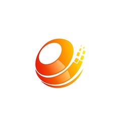 circle sphere technology data logo vector image vector image