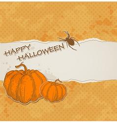 orange torn paper vector image vector image