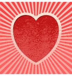 Pink Grunge Valentine vector image vector image
