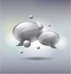 Speech and Thought Bubbles social media concept vector image