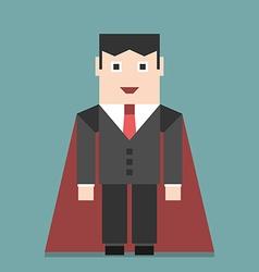 Successful businessman super hero vector image vector image