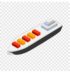 cargo ship isometric icon vector image