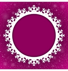 Circle Purple Background New Year Snow Snowflake vector image