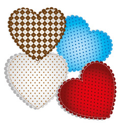 colored figures heart icon vector image vector image