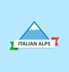 italian alps logo vector image vector image