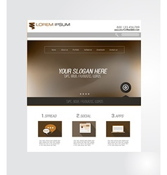 Minimal Website Home Page Design with Slider vector image vector image