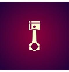 Piston icon Flat design style vector image