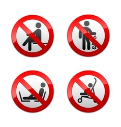 set prohibited signs - people vector image vector image