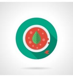 Tomato soup flat color design icon vector image