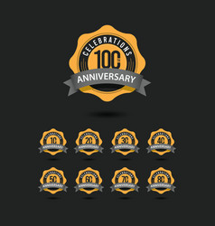 100 th anniversary celebrations template design vector