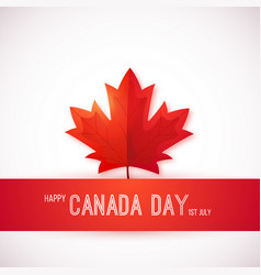 1st july canada day design template with red vector