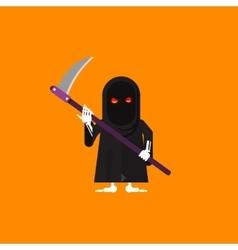 A scytheman character for halloween vector