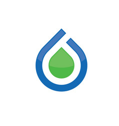 abstract water drop logo vector image