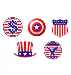 american patriotic symbols vector image