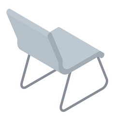 Architect chair icon isometric style vector