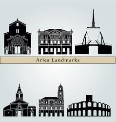 arles landmarks vector image