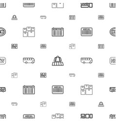 Arrival icons pattern seamless white background vector