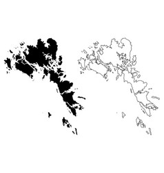 Batam city republic indonesia riau islands map vector