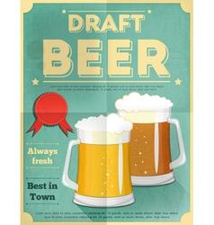 Beer draft poster vector