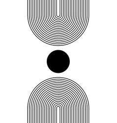 black and white modern poster art for print vector image