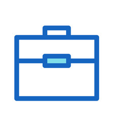 Briefcase business filled line icon blue color vector