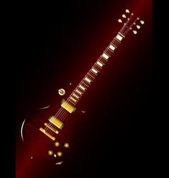 Brown stripe guitar abstract vector