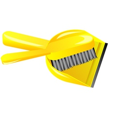 brush and dustpan vector image