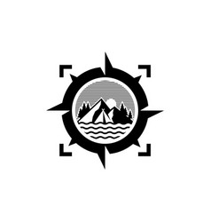 Camp logo design vector