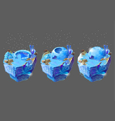 cartoon blue ice house for game design vector image