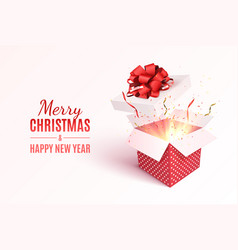 Christmas gift box vector