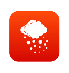 Cloud with hail icon digital red vector