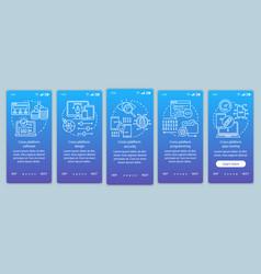 Cross platform programming onboarding mobile app vector