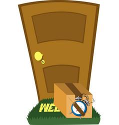 Do not open that door vector