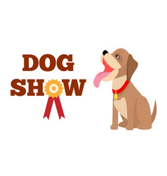 Dog show poster colorful vector