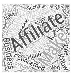 Dont Make These Common Affiliate Mistakes Word vector image