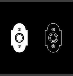 doorbell icon set white color flat style simple vector image
