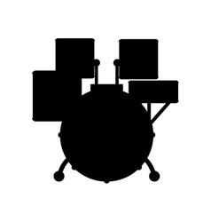 Drummer music instrument vector image