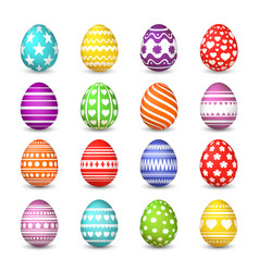 easter eggs collection christian resurrection vector image