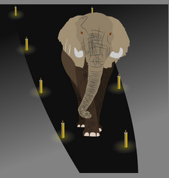 Elephant is on the vector
