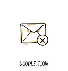 Email doodle icon pictogram vector image