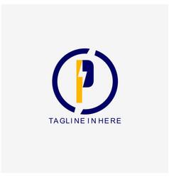 Energy logo template design vector