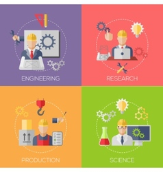 Engineer construction manufacturing workers vector