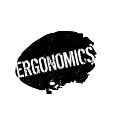 Ergonomics rubber stamp vector
