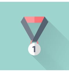Flat award icon vector