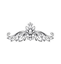 floral border vintage decorative ornament vector image