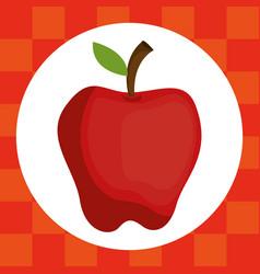fresh apple fruit healthy food vector image