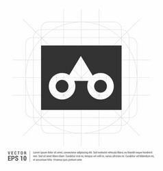 glasses frame icon vector image